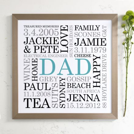 Personalised Dad Word Art